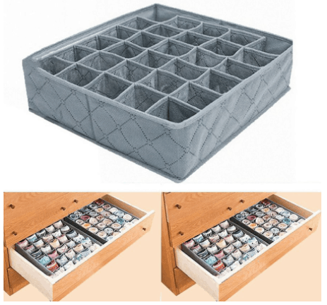 What Every household needs list? 30 Cell Foldable Bamboo Charcoal Drawer Organizer Home Essentials checklist pdf
