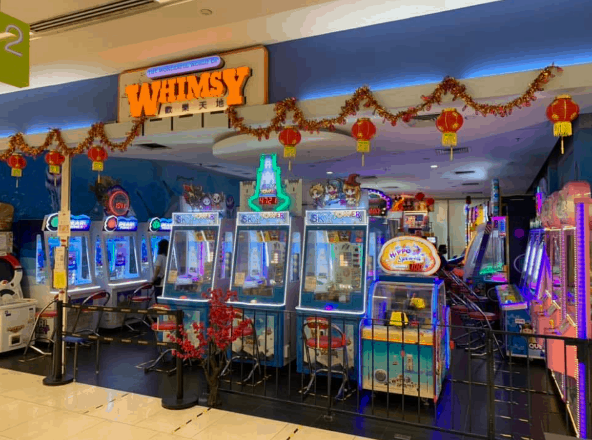 Whimsy is Top 9 Best Arcades in Singapore to play with friends after school, after work, relieve stress, get dolls, go dating