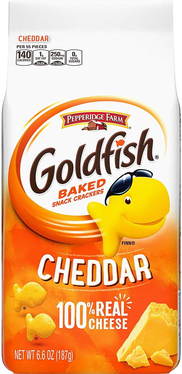 Pepperidge Farm Goldfish Biscuit, Cheddar Cheese, 187g is the Top 10 Snacks You Should Buy The Next Time You're In Singapore, snack at home during covid 19 quarantine, best snacks to get while in hotel quarantine in Singapore, order online delivery
