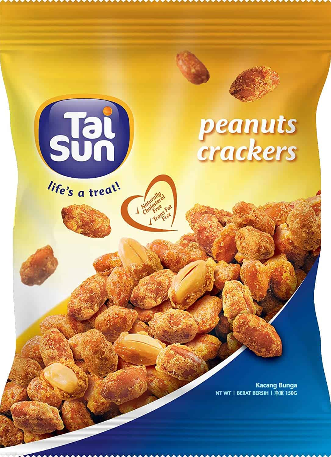 Tai Sun Peanut Cracker is the top 10 Best Childhood Snacks in Singapore, peanuts, cashews, pistachios, groundnuts and almonds, crunchy fried peanuts with spices