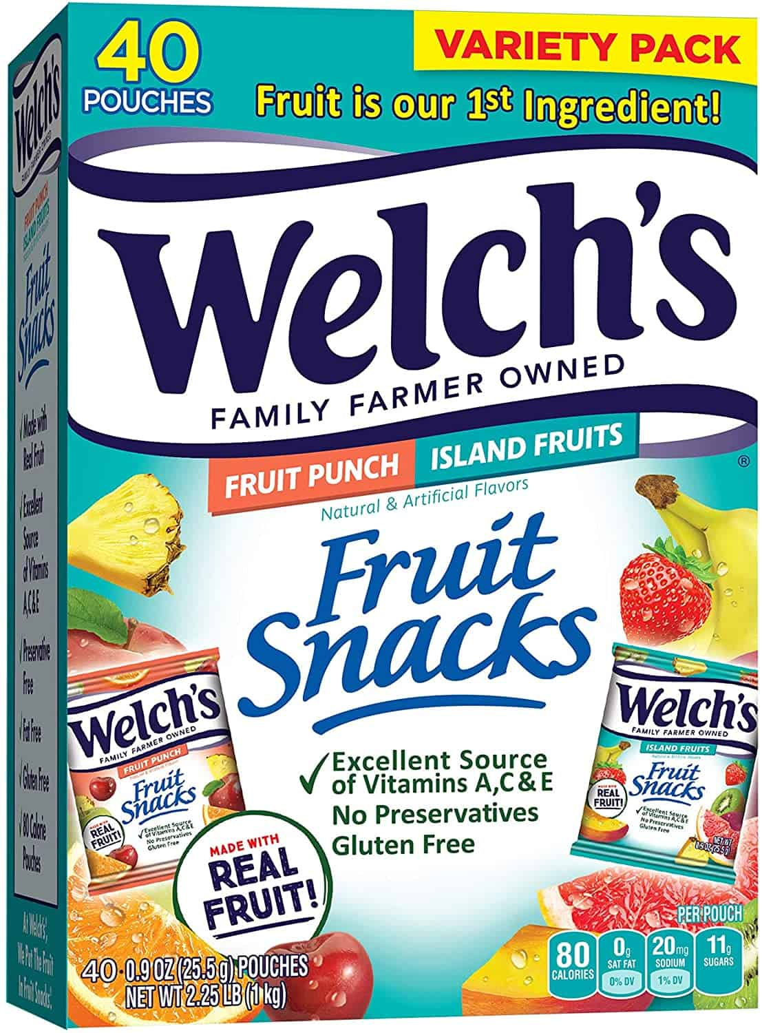 Welch's Fruit Snacks, Fruit Punch & Island Fruits Variety Pack is top 10 healthy snacks from Singapore to bring home, Trending snacks in Singapore