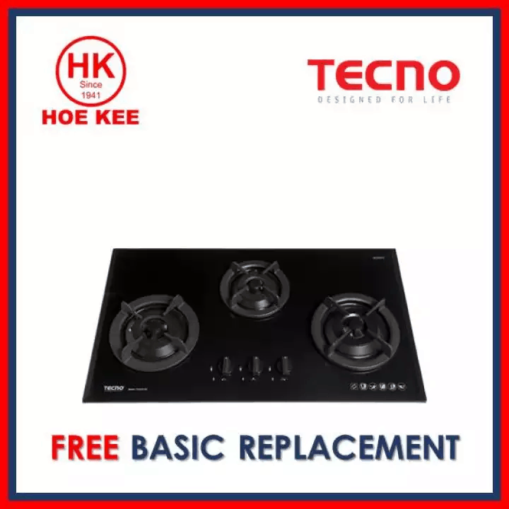 Which gas stove is best in Singapore? Tecno 3-Burner Glass Hob T333TGSV is best gas stove in Singapore, Tecno 3-Burner Glass Cooker Hob with Inferno Wok Burner, cook with butter or a cooking spray to avoid burning your food