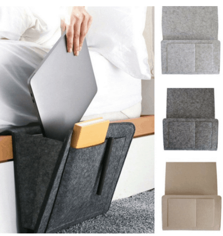 40 Essential Items to Buy for a New Home is the Creative Bedside Storage, What can I use instead of a bedside table?Creative Solutions When There's No Room For Nightstands,What if there is no space for a nightstand? What do you put next to bed instead of nightstand?, for small apartments