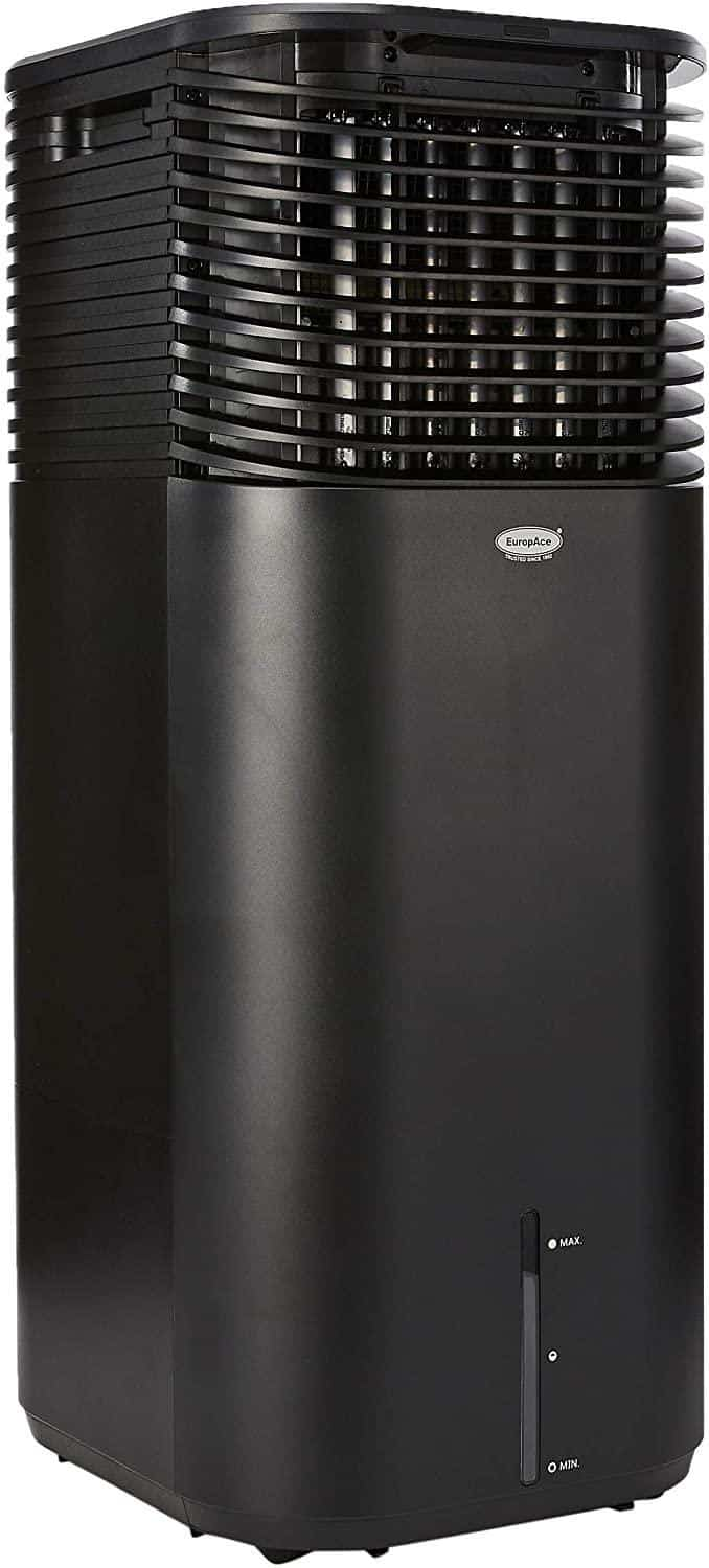 EuropAce Evaporation 4-IN-1 Air Cooler is 10 Best Portable Air Cooler & Evaporative Cooler in Singapore, comes with motor warranty and Thick Honey Comb Filter For Better Cooling Efficiency