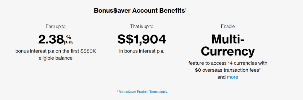 Standard Chartered Bonus$aver Account is top recommended savings account in Singapore,