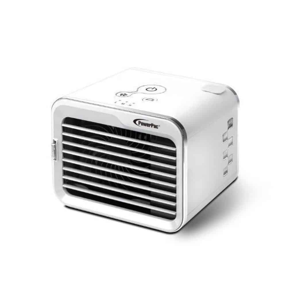 PowerPac iFan Mini Air Cooler is the Top 10 Air Coolers For Your Home or Office, PowerPac iFan Mini Air Cooler is able to Cool temperature down up to 3 degree, powerful yet not noisy