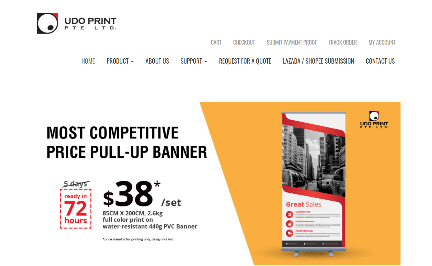 UDO Print is a place for Affordable Name Card Printing in Singapore, Online Printing for Business cards online,print safe distancing stickers in Singapore, print flyer,Colour Prints as low as 19 Cents, cheap pull up banner singapore, where to print Pull Up Stand, request for print quotation,Affordable Roll Up Banner Printing in Singapore