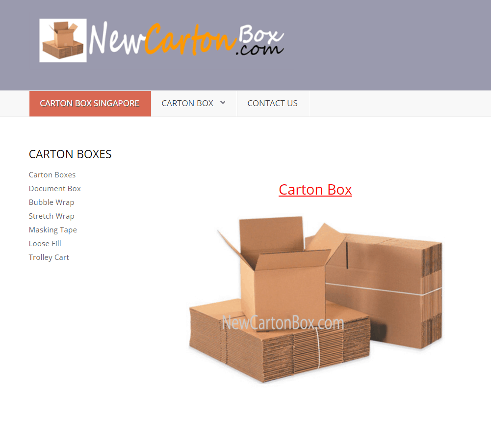 New Carton Box is a place to get Big & Small Carton Boxes For Sale in Singapore, Carton Box Supplier Singapore, buy Packing Boxes from Manufacturer, Where to Find the Best Moving Boxes in Singapore