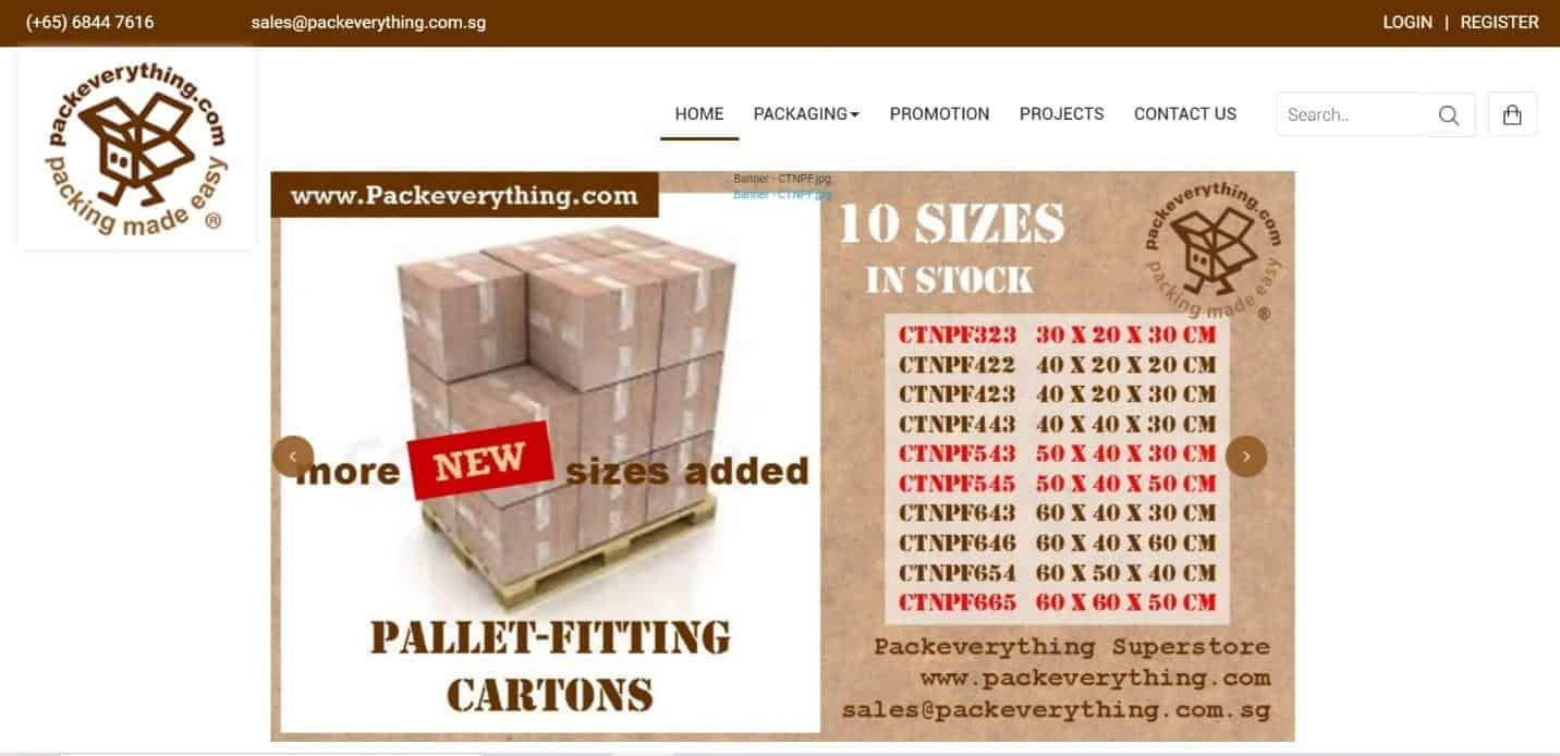 Packeverything is a place to buy Cardboard Boxes Wholesale Singapore, boxes great for handy items such as carrier bags, packing boxes and tarpaulins, carton boxes for storage and organising solutions