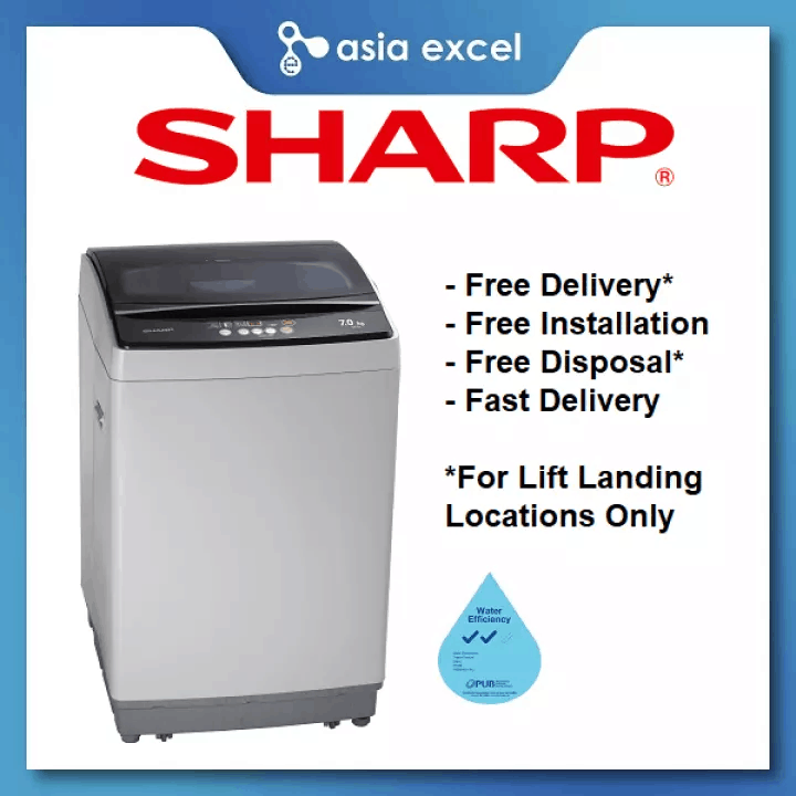 Sharp Top Load Washing Machine 7kg ESX705 is the best washing machines to buy, Washing Machines Price List in Singapore, Which are the best washing machines to buy?, Which top load washing machine is best?, Why are top loading washing machines cheaper?, What brand of washing machine is the most reliable?