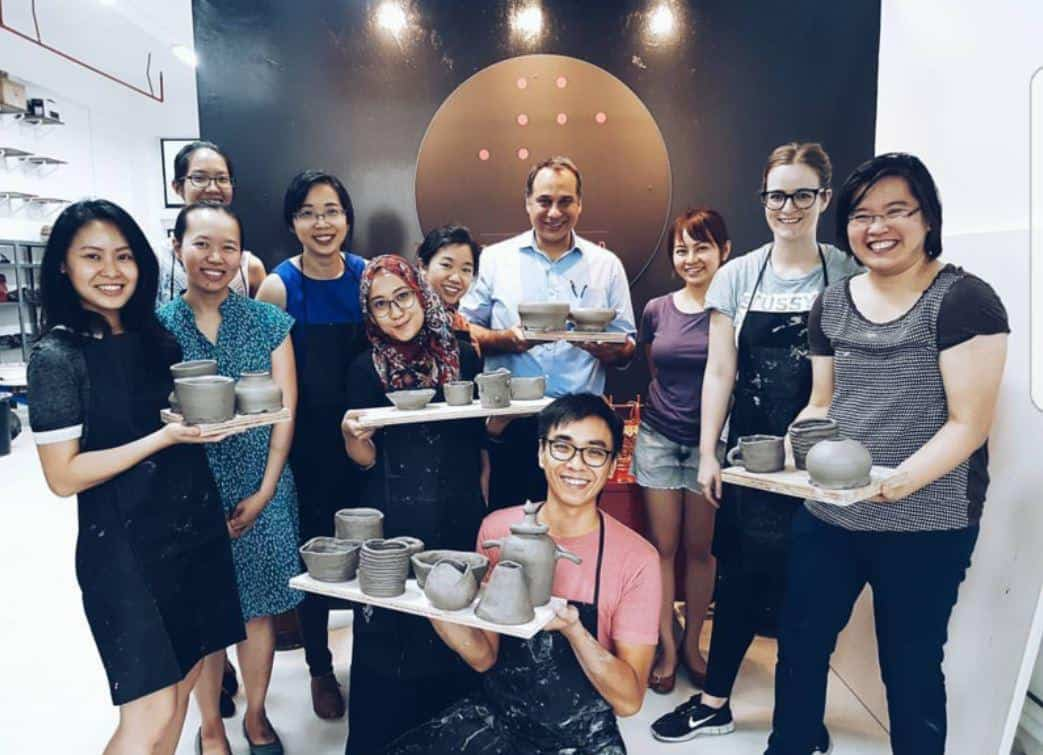 The 8th floor creative space is the private pottery studio space for team bonding, review for 8th floor creative space, Cheap pottery class Singapore, The best ceramic classes in Singapore to make your own pottery