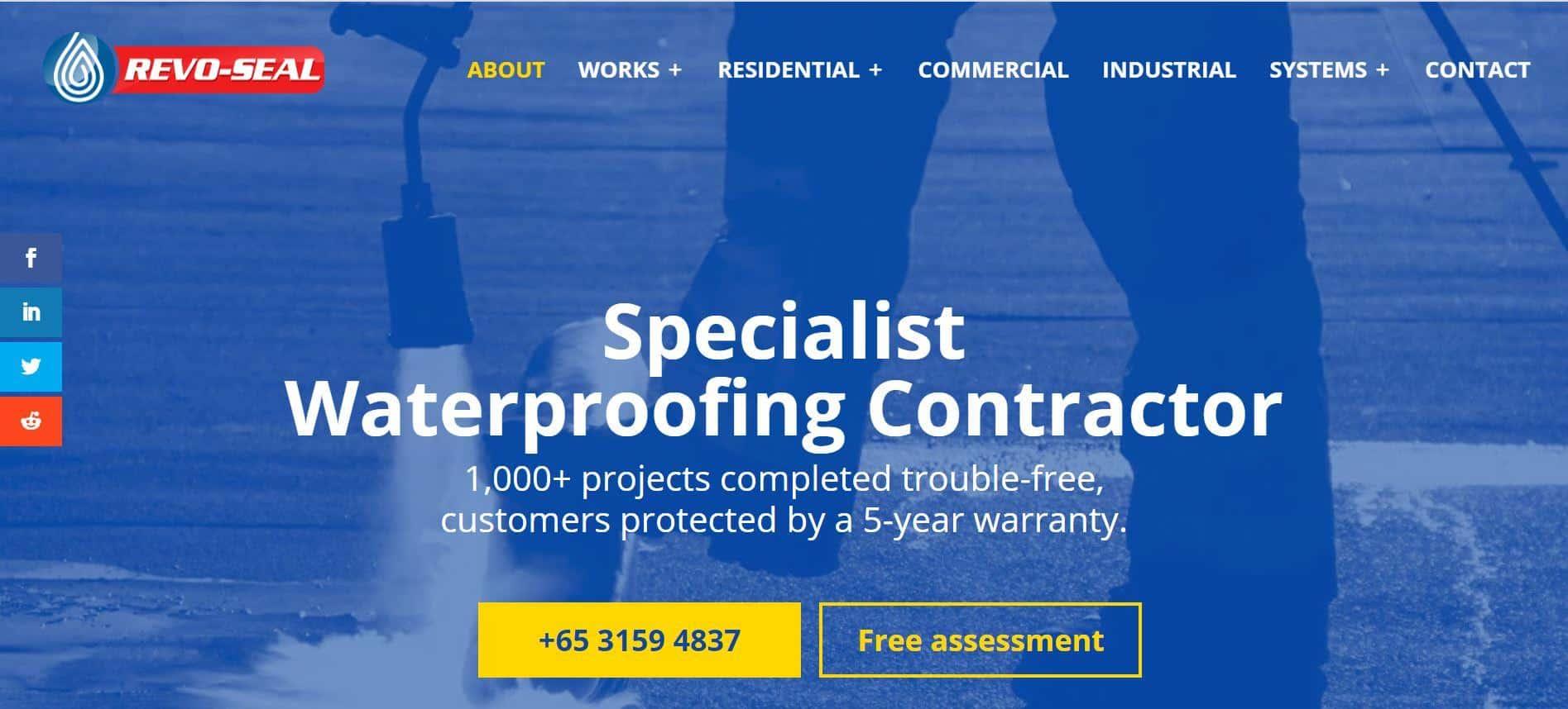 Revo-seal Waterproofing is 10 Best Waterproofing Contractors in Singapore, Waterproofing Company In Singapore With Prices, best Waterproofing Contractor Singapore, Waterproofing Contractor Singapore Specialist,  top and leading specialist waterproofing contractor in Singapore,