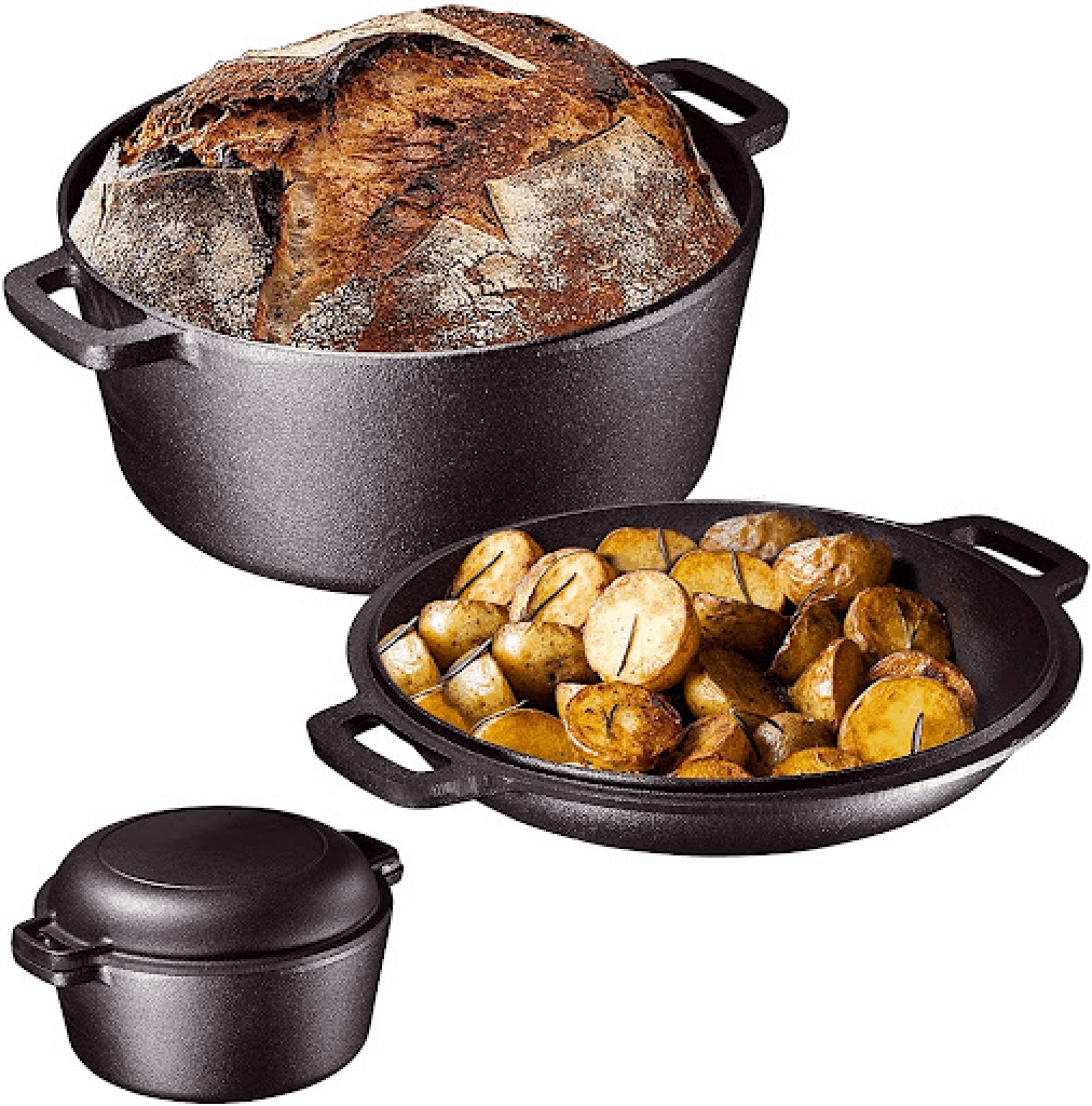 Bruntmor 2 in 1 Enameled Cast Iron Double Dutch Oven & Skillet Lid is the Best Dutch Oven in Singapore, 16 Best Dutch Ovens in Singapore Less Than $400, What are the top 16 Dutch ovens?, What are the top 10 Dutch ovens?, Why is Le Creuset the best Dutch oven?, Is it worth buying a Dutch oven?, The Best Dutch Ovens for Baking, Braising, and Stew, Can I use a crockpot instead of a Dutch oven?, Why are Dutch ovens so popular?